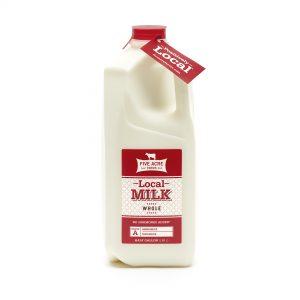 local whole milk half gallon