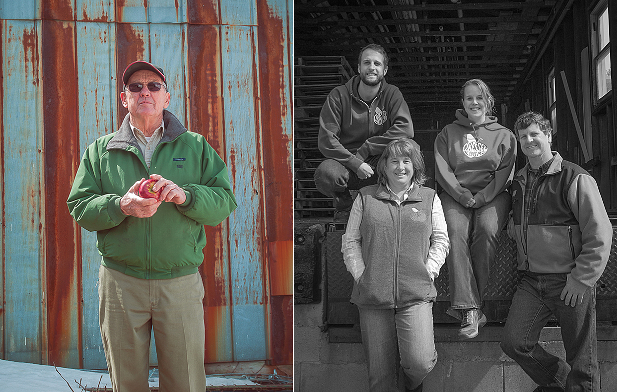 Left: Rod Dressel Sr.. Right: The rest of the Dressel Clan; Tim, Debbie, Sarah, and Rod Jr..