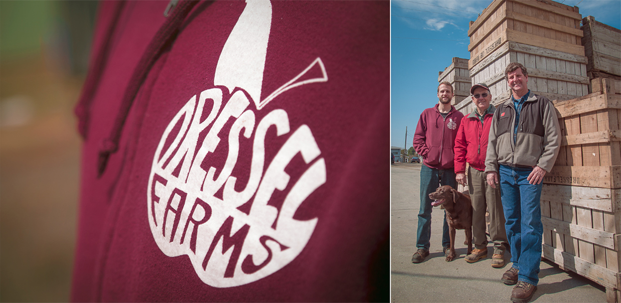 Left: Not just a farm, but a family. The Dressel men.