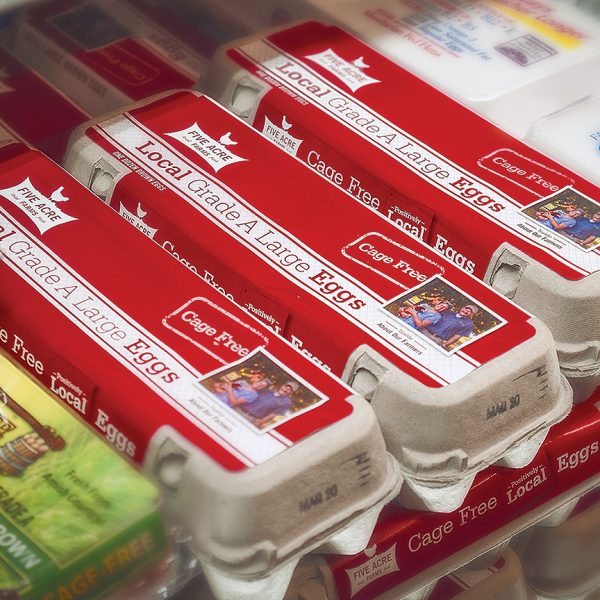 ON THE SHELF  Each carton tells the farmer's story so you know exactly where your eggs come from.