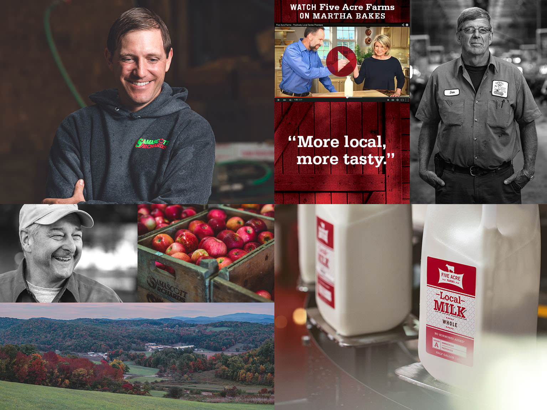 Five Acre Farms Website Home Page